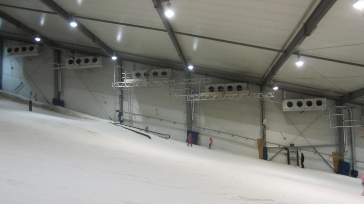 Hanging platforms @ Snow Planet.